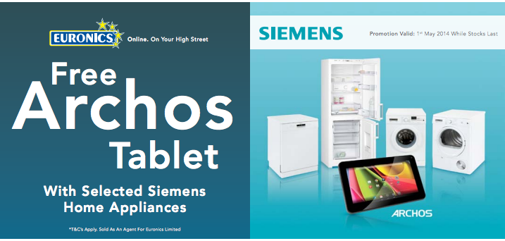 Get a Free Archos 7.0 Cobalt Tablet when purchasing selected Siemens models