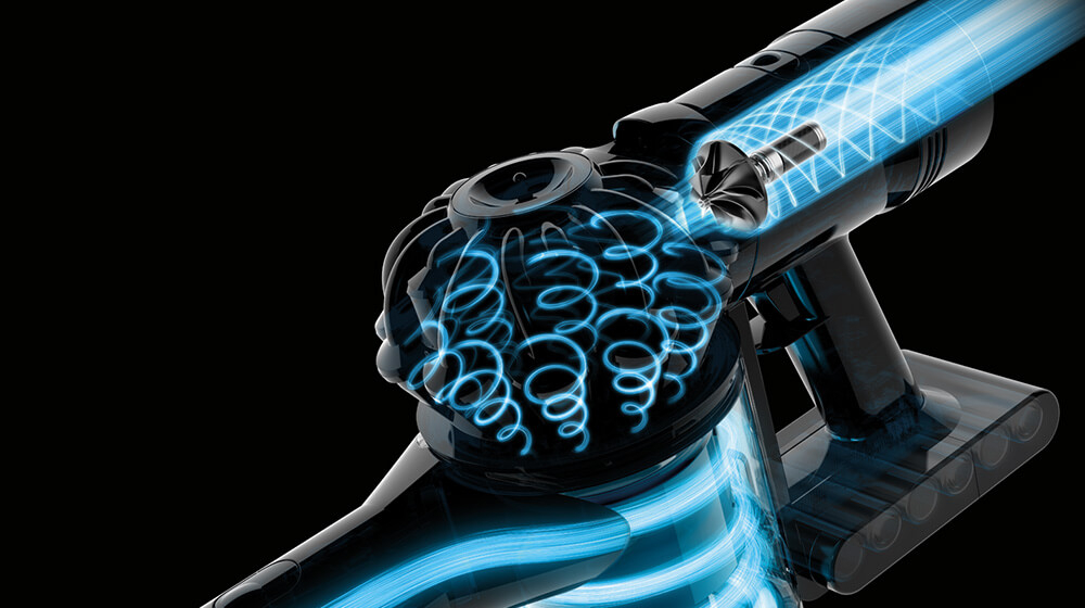Dyson digital motor V8. Generates the most powerful suction.