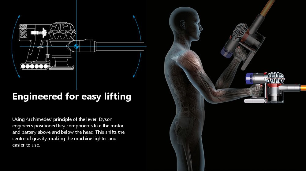 Engineered for easy lifting