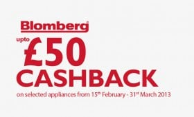 UP TO £50 CASHBACK WITH BLOMBERG APPLIANCES