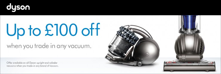 Save up to £100 on selected Dyson Vacuum Cleaners