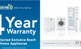 Get a Free 4 Year Warranty with Selected Bosch Home Appliances