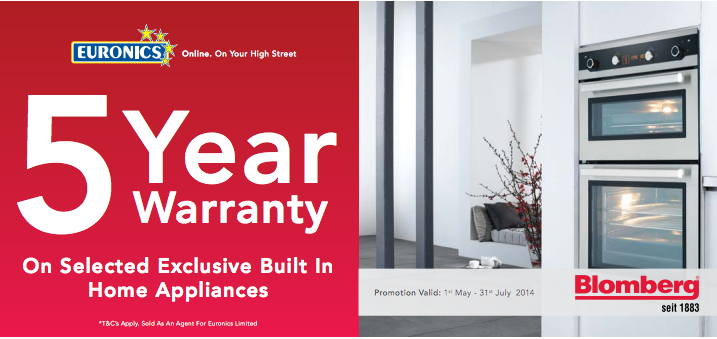 Free 5 year warranty with selected Bloomberg kitchen appliances ...