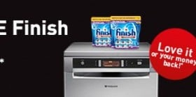 3 Months supply of Finish Tablets with any Hotpoint dishwasher and a 30 day money back guarantee