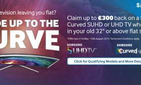 Samsung – Trade up to the Curve and Claim up to £300 | Electricshop.com