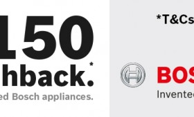 "Bosch February ""up to £150"" Cashback Promotion"