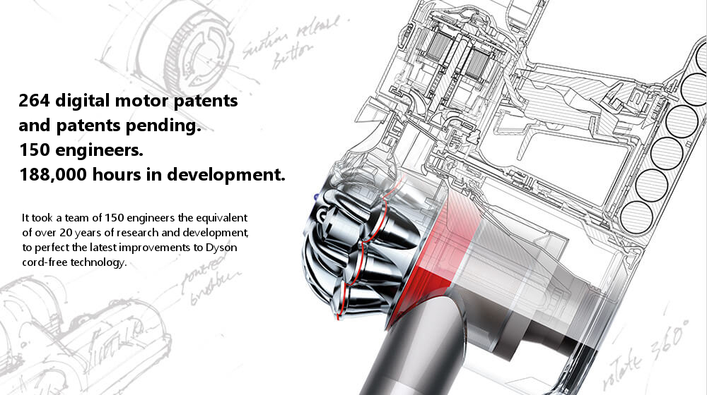 264 digital motor patents  and patents pending. 150 engineers. 188,000 hours in development.