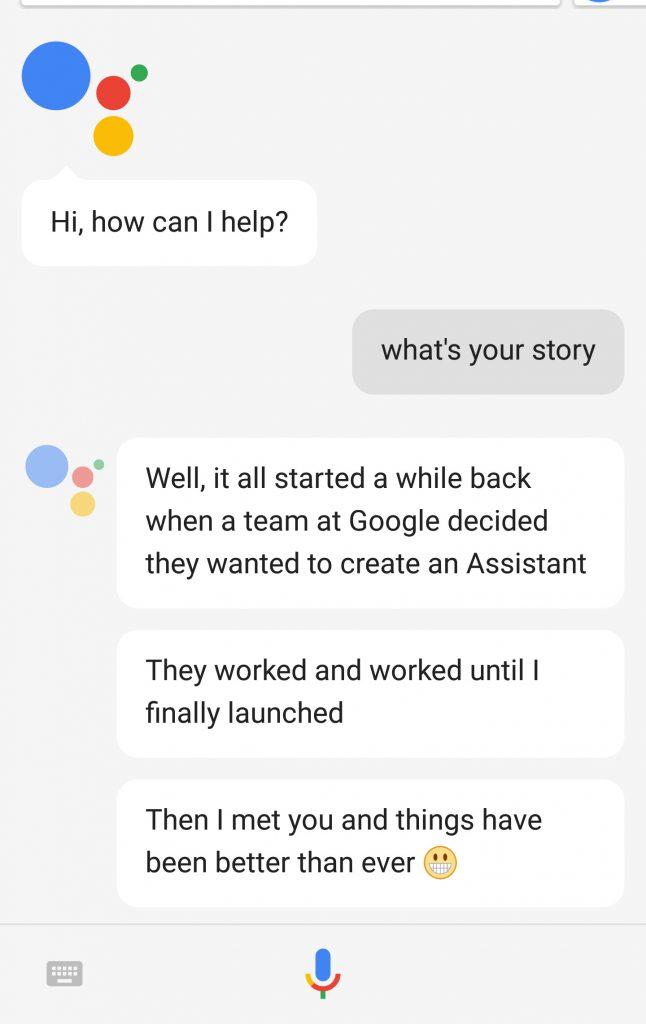 Google Assistant example