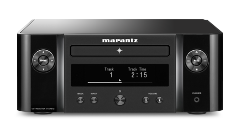 Marantz MCR612 HiFi Network System in Black Front View