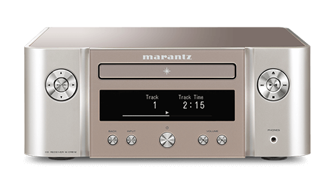 Marantz MCR612 HiFi Network System in Silver Gold Front View