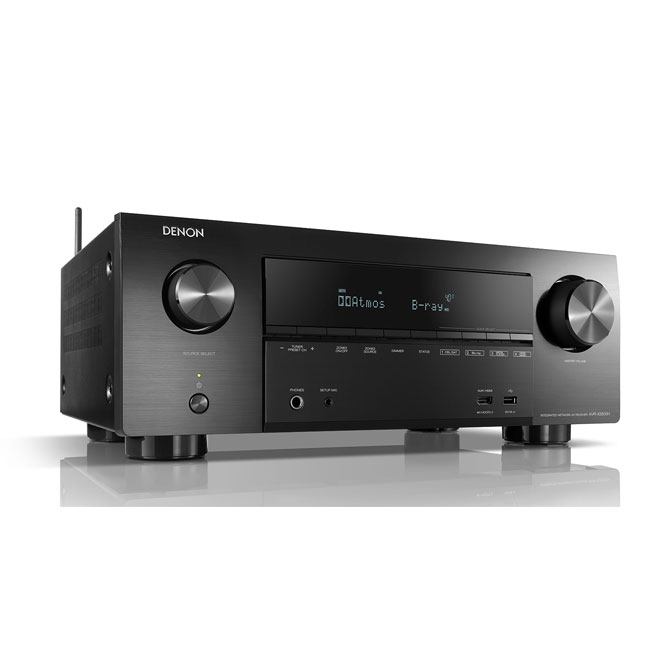 Denon AVRX2600H 7.2ch 4K Ultra HD AV Receiver with 3D Audio and HEOS Built-in