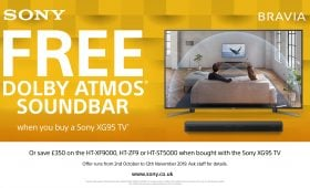 Free Dolby Atmos Soundbar when you buy a Sony XG95 TV