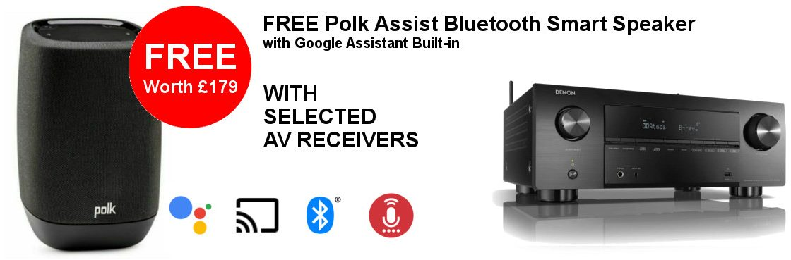 Free Polk Assist on Selected AV Receivers