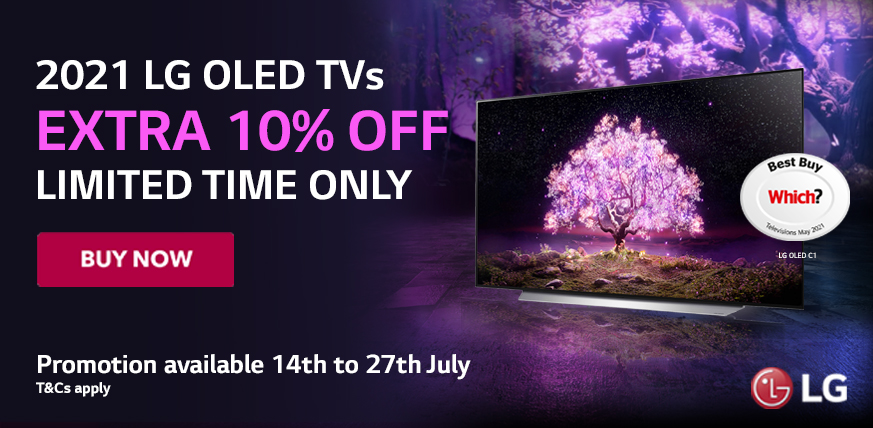 Save Extra 10% OFF on Selected LG OLED TV Models