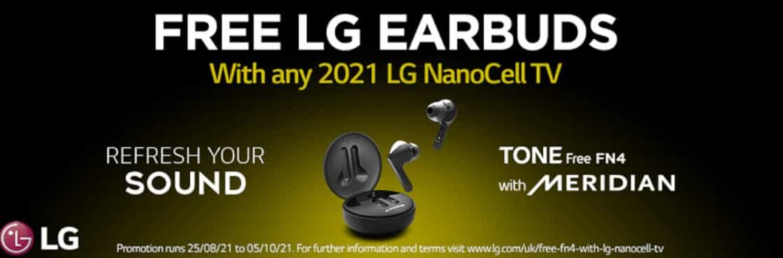 FREE LG Earbuds with Selected LG NanoCell TVs